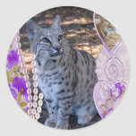 bobcat-00219 classic round sticker