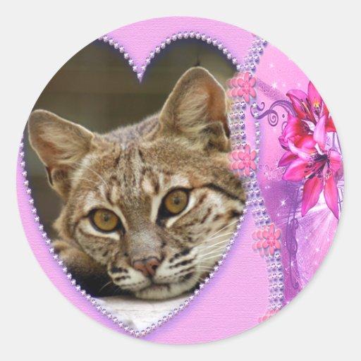 bobcat-00222 classic round sticker