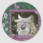bobcat-00521 classic round sticker