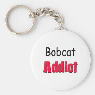 Bobcat Addict Basic Round Button Keychain