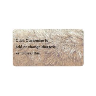 Bobcat Fur Label