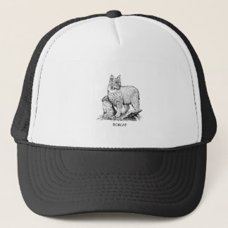 Bobcat Illustration Trucker Hat