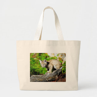 Bobcat Kitten Tote Bags