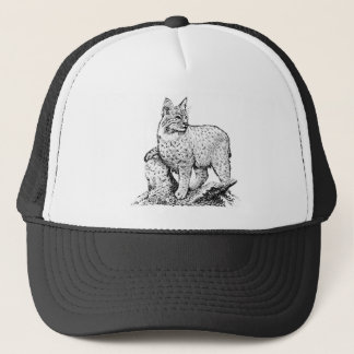 Bobcat Line Art Trucker Hat