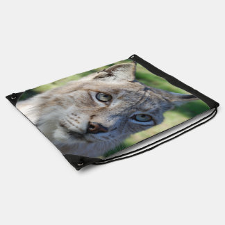 BOBCAT LYNX - Photography Jean Louis Glineur Drawstring Backpack