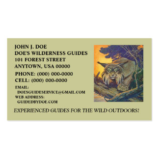 BOBCAT OUTDOOR~ EQUIPMENT SERVICES ~ BUSINESS CARD