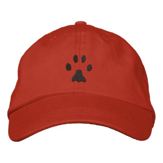 Bobcat Print Embroidered Baseball Cap