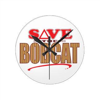 Bobcat Save Round Clock