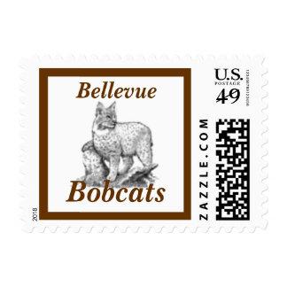 Bobcat School Mascot Postage Stamp