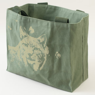Bobcat Wilderness Canvas Tote Bag