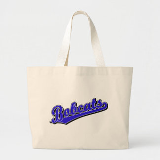 Bobcats in Blue Tote Bag