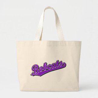 Bobcats in Purple Tote Bags