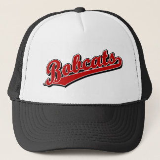 Bobcats in Red Trucker Hat