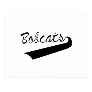 Bobcats Lettering Postcard