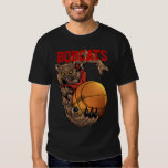 Bobcats Realistic bobcat Basketball Team design T-Shirt