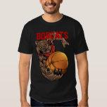 Bobcats Realistic bobcat Basketball Team design Tees