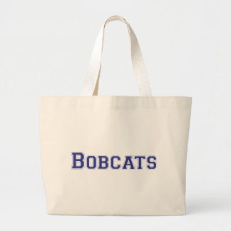 Bobcats square logo in blue tote bag