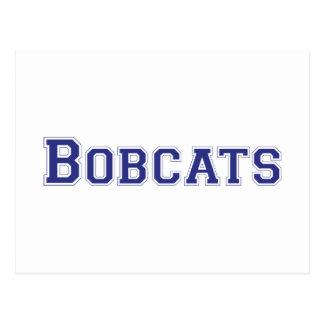 Bobcats square logo in blue postcard