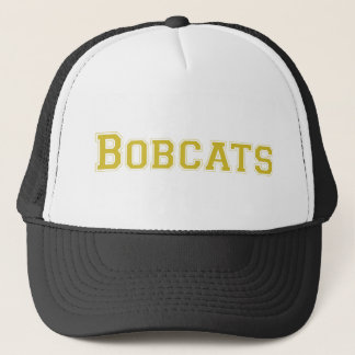 Bobcats square logo in gold trucker hat