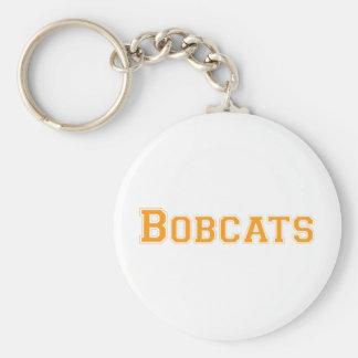 Bobcats square logo in orange keychain