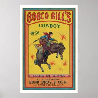 Bobco Bill (petardo chino del vintage) Poster