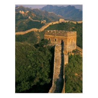 Bobina a través de la montaña, China de la Gran Tarjeta Postal