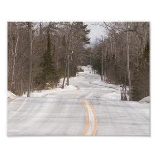 Bobina Curvy del camino a través del condado de Fotografías