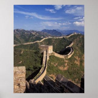 Bobina de la Gran Muralla a través de la montaña Poster