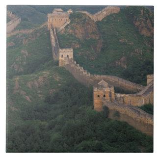 Bobina de la Gran Muralla a través de las montañas Azulejos