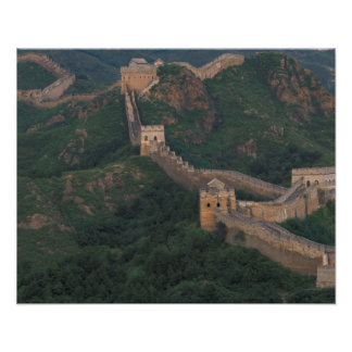 Bobina de la Gran Muralla a través de las montañas Impresiones