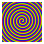 bobina trippy del arco iris impresiones