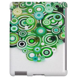 Bobinas del verde funda para iPad