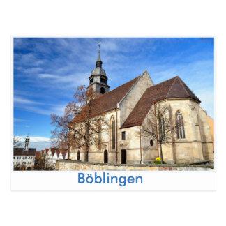 Böblingen, town church postcard