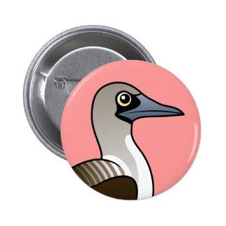 Bobo Azul-con base de Birdorable Pin Redondo 5 Cm