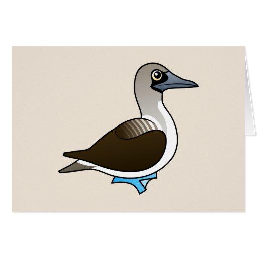 Bobo Azul-con base de Birdorable Tarjeta De Felicitación