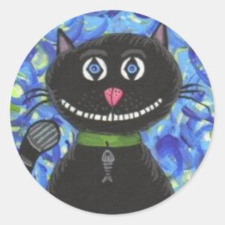 Bobo el gato negro - pegatina