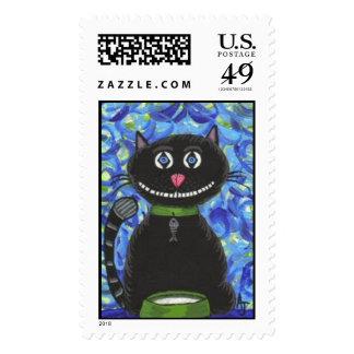 Bobo el gato negro - sello