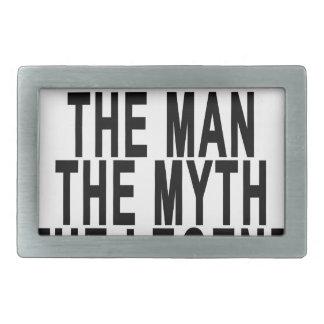 Bobo el hombre el mito la leyenda Tshirts.png Hebilla Cinturon Rectangular