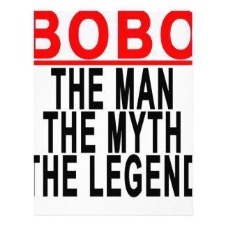 Bobo el hombre el mito la leyenda Tshirts.png Membretes Personalizados