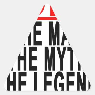 Bobo el hombre el mito la leyenda Tshirts.png Pegatina Triangular