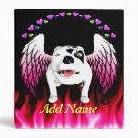 Bobo el perro de diablo hace ángel