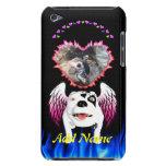 Bobo el perro de diablo hace ángel barely there iPod carcasas