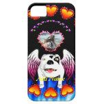 Bobo el perro de diablo hace ángel iPhone 5 cárcasas