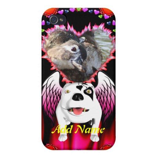 Bobo el perro de diablo hace ángel iPhone 4 protector
