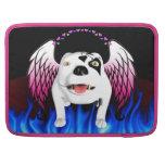 Bobo el perro de diablo hace ángel funda para macbooks