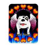 Bobo el perro de diablo hace ángel imán