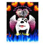 Bobo el perro de diablo hace ángel plantilla de membrete