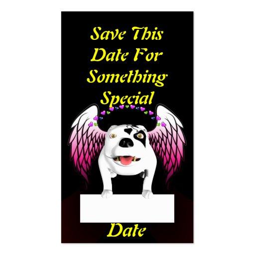 Bobo el perro de diablo hace ángel tarjeta de visita