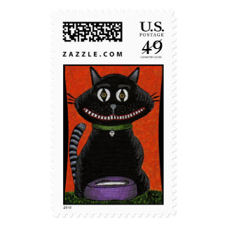BOBO el sello de Halloween del CUELLO del CAT NEGR