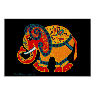 Bobo Elephant Poster, Great Gift Idea & Framable Poster